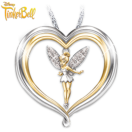 Tinker Bell Believe Pendant Necklace: Disney Jewelry