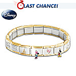 Wonderful World Of Disney Italian Charm Bracelet: Jewelry Gift
