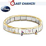 Wonderful World Of Disney Italian Charm Bracelet: Jewelry Gift