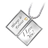 Always & Forever, I Love You Letter Locket Necklace