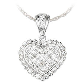 Precious Daughter, Perfect Bride Heart Pendant Necklace