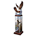 Collectible Eagle Art Illuminated Tabletop Sculpture: Splendor In The Sky