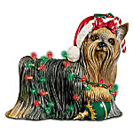 Holiday Delight Yorkie Figurine: Yorkie Dog Lover Gift