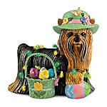 Easter Delight Yorkie Figurine