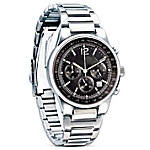 My Son, My Pride And Joy Stainless Steel Chronograph Men's Wrist Watch: Gift For Sons