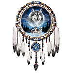 Dreams Of The Wild Wolf Art Native American-Style Dreamcatcher Wall Decor