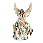 Trail Of Dreams Collectible Wolf Art Angel Figurine