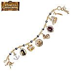 A Pirates Treasure Charm Bracelet With Cultured Black Pearls: Pirates Of The Caribbean Jewelry