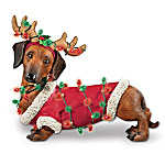 Holiday Delight Dachshund Figurine: Dachshund Dog Lover Gift