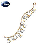 Disney Kiss Charm Bracelet: Disney Movie Moments Romantic Jewelry