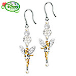 Tinker Bell Dazzle Beaded Dangle Earrings: Jewelry Gift