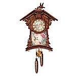 Lena Liu Timeless Garden Treasures Hummingbird Art Wooden Cuckoo Clock: Bird Lover Gift