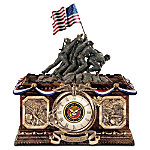 Usmc Time Of Pride Collector's Clock: Marine Corps History Tribute Home Decor Picture