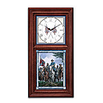 Timeless Glory Wall Clock With Illuminated Stained-Glass