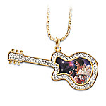Legendary Elvis Guitar Pendant Necklace: Elvis Presley Jewelry Gift