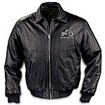 Ride Hard, Live Free Leather Motorcycle Jacket: Men's Black Leather Jacket