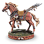 Home Decor Collectibles Sacred Courage Native American-Inspired Horse Figurine: Horse-Themed Home Decor
