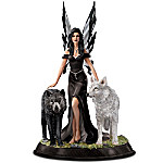 Mystic Journeys Fairy And Wolves Figurine