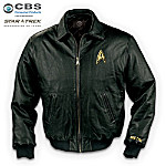 STAR TREK Embroidered Leather Jacket