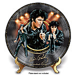 Elvis Presley '68 Comeback Special Record-Shaped Porcelain Collector Plate: Elvis Fan Gift
