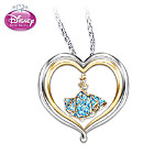 Disney Princess Cinderellas Dream Heart-Shaped Sterling Silver Pendant Necklace