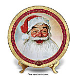 Norman Rockwell Santa Claus Christmas Collector Plate: His Eyes How They Twinkled