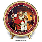 Norman Rockwell Naughty Or Nice Santa Claus Christmas Collector Plate