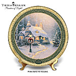 Thomas Kinkade Stonehearth Hutch Christmas Collector Plate