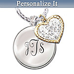 Gifts for Daughters My Blessed Daughter Personalized Pendant Necklace: Engraved Jewelry Daughter Gift