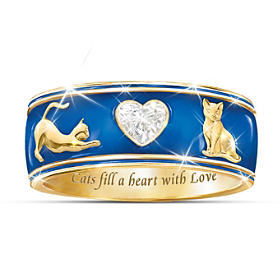 Cats Fill A Heart With Love Ring