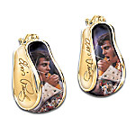 Elvis Presley Reversible Earrings Featuring Aloha From Hawaii Portrait