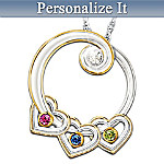 Lineage Of Love Diamond & Birthstone Personalized Pendant Necklace