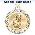 Reversible Dog Breed Watch Pendant Necklace