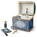 Heirloom Porcelain Musical Prayer Box: Our Lady Treasury Of Prayer