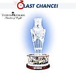 Thomas Kinkade Victorian Christmas Crystal Nutcracker Figurine