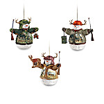 Deer Snowman Ornament Collection Set One