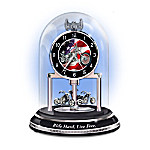 Motorcycle Themed Anniversary Clock: Ride Hard, Live Free