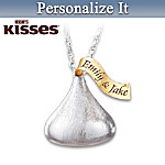 HERSHEY'S KISSES Personalized Pendant Necklace: Sweetest Kiss You'll Ever Get