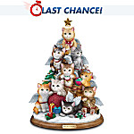 Cat Lovers Tabletop Christmas Decoration: Purr-fect Holiday Tree