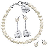 Grandma's Pearls Of Wisdom Bracelet And Earring Set