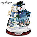 Thomas Kinkade Musical Snowman Figurine: Snow Happy Together