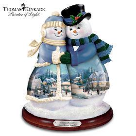 Thomas Kinkade Snow Happy Together Figurine