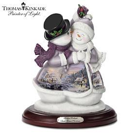 Thomas Kinkade Snow Kissed Christmas Figurine
