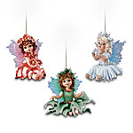 Fairy Magical Holidays Christmas Ornament Set One: Set Of Three
