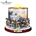 Thomas Kinkade Making Spirits Bright Candleholder