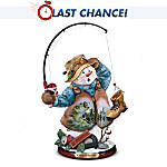 Catch Of The Day Snowman Figurine