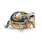 Charming Officer USMC Heirloom Porcelain Turtle Music Box