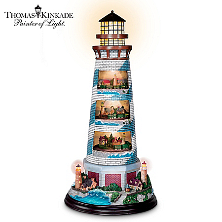 Thomas Kinkade's Masterpiece Tower Of Light Lighthouse Sculpture
