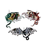 Dragons Of The Mystic Realm Fantasy Art Ornament Set One: Set Of Three