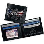 American Chopper And Eagle Themed Leather Wallet: Ride Hard, Live Free